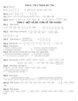 Các dạng toán lớp 5