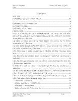 Báo cáo thực tập tổng hợp kế toán tại công ty cổ phần xây lắp vinaconex