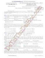 Đề thi khảo sát chất lượng lần 2 lớp 12 môn lý trường THPT Yên Lạc