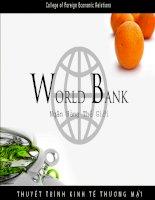 Bài thuyết trình world bank ngân hàng thế giới