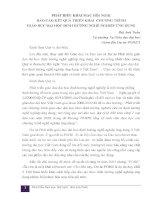 PHÁT BIỂU KHAI MẠC HÔỊ NGHI ̣ BÁO CÁO KẾT QUẢ TRIỂN KHAI CHƯƠNG TRÌNH GIÁO DỤC ĐẠI HỌC ĐỊNH HƢỚNG NGHỀ NGHIỆP ỨNG DỤNG