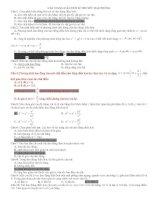 các dạng câu hỏi lý thuyết về dao động có đáp án trong thi thpt quốc gia