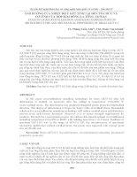 ẢNH HƯỞNG của NHIỆT độ ủ kết TINH lại đến tổ CHỨC và cơ TÍNH của hợp KIM ĐỒNG LA TÔNG лк75 0,5