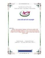 PHÂN TÍCH HOẠT ĐỘNG TÍN DỤNG ĐỐI VỚI DOANH NGHIỆP NHỎ VÀ VỪA TẠI NGÂN HÀNGTMCP XUẤT NHẬP KHẨU VIỆT NAM CHI NHÁNH CẦN THƠ