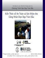 Kiến thức về an toàn và sức khỏe cho công nhân dọn dẹp tràn dầu