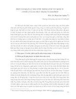 PHÂN CẤP QUẢN LÝ NHÀ NƯỚC TRONG LĨNH VỰC KINH TẾ - CƠ SỞ LÝ LUẬN, THỰC TRẠNG VÀ GIẢI PHÁP
