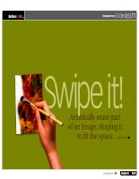 Swipe it! Artistically erase part of an image shaping it to fit the space