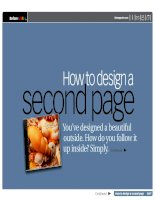 How to design a second page