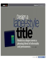 Label Style Title A Site of Squares Photo Name Fun Lines High Style Multi Caption Picture Frame Cover