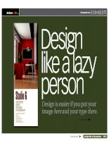 Design Like A Lazy Person