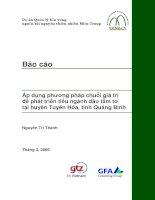 Áp dụng phương pháp chuỗi giá trị để phát triển tiểu ngành dâu tằm tơ tại huyện Tuyên Hóa, tỉnh Quảng Bình