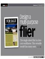 Design a multi purpose flier