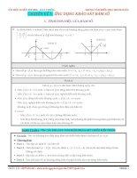 Chuyên đề 1 ứng dụng khảo sát hàm số