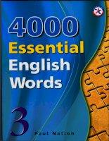 4000 english words volume 3