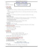 GIÁO ÁN SINH HỌC 6 TỪ TIẾT 1 ĐẾN TIẾT 10 (CÓ NỘI DUNG TÍCH HỢP)