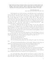 MỘT SỐ GIẢI PHÁP NHẰM NÂNG CAO CHẤT LƯỢNG ĐÀO TẠO Ở HỌC VIỆN NGÂN HÀNG -PHÂN VIỆN PHÚ YÊN TRONG QUÁ TRÌNH CHUYỂN SANG ĐÀO TẠO THEO HỆ THỐNG TÍN CHỈ