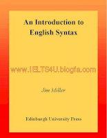An introduction to english syntax (edinburgh university press,2001)