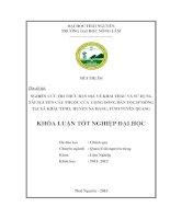 Nghiên cứu tri thức bản địa về khai thác và sử dụng tài nguyên cây thuốc của cộng đồng dân tộc H'Mông tại xã Khâu Tinh, huyện Na Hang, tỉnh Tuyên Quang