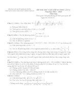 Đề thi thử vào lớp 10 môn toán lần 2 trường THCS nguyễn thiện thuật năm học 2014   2015 (có đáp án)