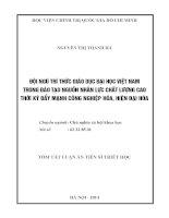 ĐỘI NGŨ TRI THỨC GIÁO DỤC ĐẠI HỌC VIỆT NAM TRONG ĐÀO TẠO NGUỒN NHÂN LỰC CHẤT LƯỢNG CAO THỜI KÌ ĐẨY MẠNH CÔNG NGHIỆP HÓA HIỆN ĐẠI HÓA