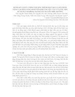 ĐÁNH GIÁ CHẤT LƯỢNG CHƯƠNG TRÌNH ĐÀO TẠO VÀ GIẢI PHÁP NÂNG CAO KHẢ NĂNG SINH VIÊN ĐÁP ỨNG YÊU CẦU CỦA CÁC NHÀ SỬ DỤNG LAO ĐỘNG NGÀNH TÀI NGUYÊN MÔI TRƯỜNG