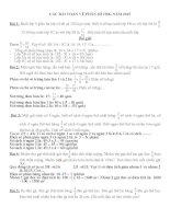 Chuyên đề toán lớp 4 các bài TOÁN về PHÂN số
