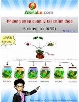 AkiraLe com phương pháp quản lý tài chính 6 chiếc lọ (JARS)