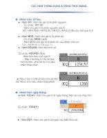 Các hàm thông dụng và công thức mảng EXCEL