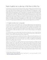 Nghĩ về nghiên cứu và giáo dục ở Việt Nam và Thầy Tụy