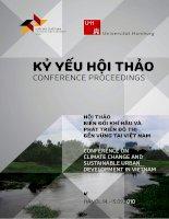 Kỷ yếu hội thảo biến đổi khí hậu và phát triển đô thị bền vững tại việt nam