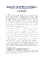 NĂNG LỰC TIẾNG ANH CỦA SINH VIÊN CÁC TRƯỜNG ÐẠI HỌC TRÊN ÐỊA BÀN TP. HCM TRƯỚC YÊU CẦU CỦA MỘT NỀN KINH TẾ TRI THỨC: THỰC TRẠNG VÀ NHỮNG GIẢI PHÁP