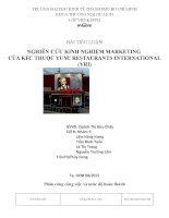Tiểu luận nghiên cứu kinh nghiệm marketing của KFC thuộc YUM