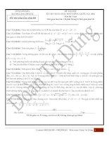 Đề thi thử kỳ thi THPT quốc gia 2016 môn toán  Đoàn Trí Dũng