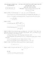 Đề thi tuyển sinh lớp 10 môn toán chuyên tỉnh tuyên quang năm học 2013   2014(có đáp án)