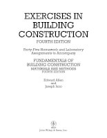Exercises in building construction materials and methods by edward allen