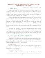 NGHIÊN CỨU PHƯƠNG PHÁP TỐI ƯU HÓA KẾT CẤU ÁP DỤNG TRONG CÁC KẾT CẤU THÉP