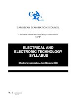 Electrical and electronic technology syllabus