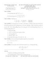Đề thi tuyển sinh lớp 10 môn toán chuyên tỉnh tuyên quang năm học 2009   2010(có đáp án)