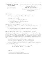 Đề thi tuyển sinh lớp 10 môn toán chuyên tỉnh tuyên quang năm học 2012   2013(có đáp án)