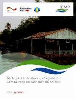 Đánh giá tính tổn thương của giới ở tỉnh Cà Mau trong bối cảnh Biến đổi Khí hậu