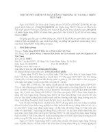 MỘT SỐ NÉT CHÍNH VỀ NGÂN HÀNG TMCP ĐẦU TƯ VÀ PHÁT TRIỂN VIỆT NAM