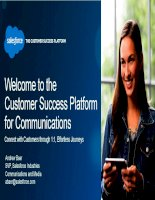 Welcome to the customer success platform for communications