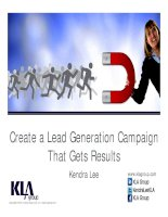 Creating a lead generation campaign that gets real results