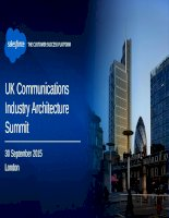 Salesforce UK comms industry architecture summit (30 september 2015)