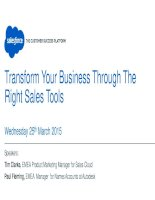 Transform your business through the right sales tools webinar