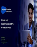 Welcome to the customer success platform for financial services