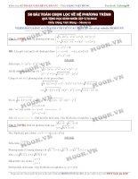 Tuyển tập 50 bài hệ phương trình và đặc sắc Đặng Việt Hùng