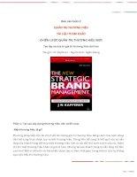Tiểu luận môn quản trị marketing chiến lược quản trị thương hiệu mới