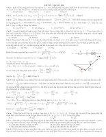 Đề thi thử có đáp án chi tiết môn vật lý 2017