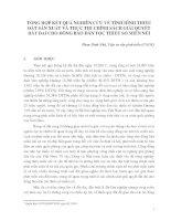 TỔNG HỢP KẾT QUẢ NGHIÊN CỨU VỀ TÌNH HÌNH THIẾU ĐẤT SẢN XUẤT VÀ THỰC THI CHÍNH SÁCH GIẢI QUYẾT ĐẤT ĐAI CHO ĐỒNG BÀO DÂN TỘC THIỂU SỐ MIỀN NÚI